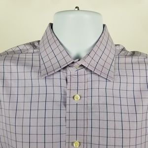 Brooks Brothers Makers Non Iron Purple Blue Check